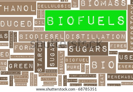 Biofuels or Biofuel Clean Energy as a New Concept - stock photo