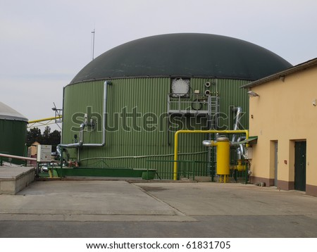 biogas digesters tanks Kloko?ov in the Czech Republic - stock photo
