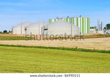 Biogas plant stock photo images
