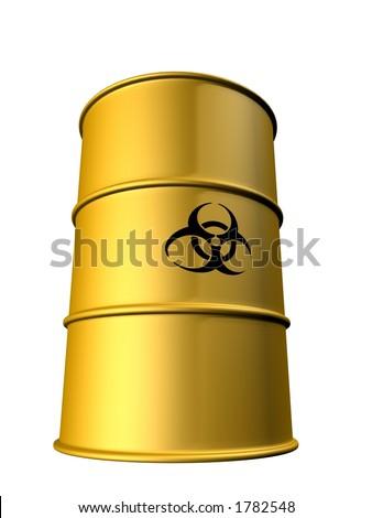 biohazard barrels - stock photo