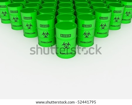 Biohazard barrels - stock photo