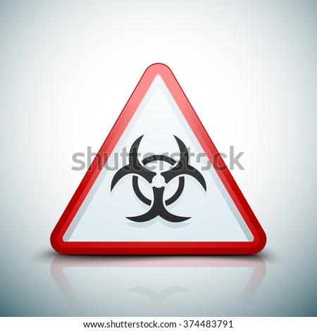 Biohazard danger sign - stock photo