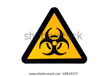 Biohazard sign isolated on white - stock photo