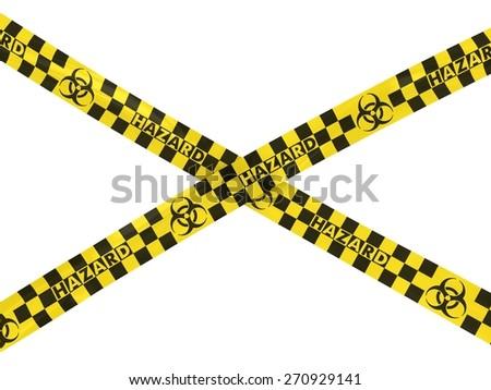 Biohazard Symbol Hazard Tape Cross - stock photo