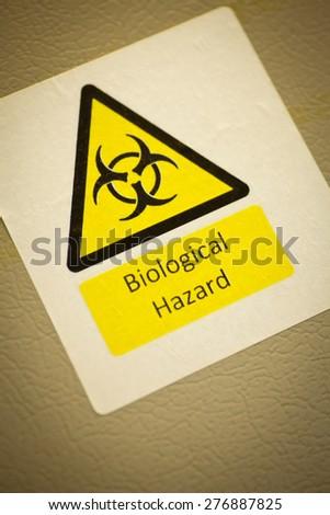 Biological hazard warning sign - stock photo