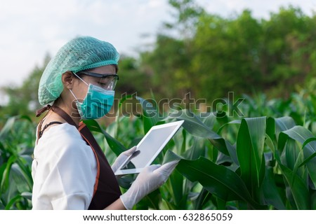 Biologist White Coat Holding Document Front Stock Photo 726877279 ...