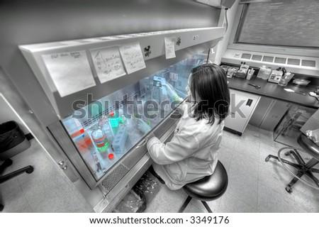 biology  laboratory - technician - stock photo