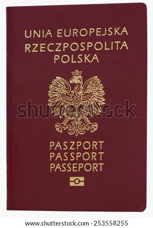 Biometric Polish passport - stock photo