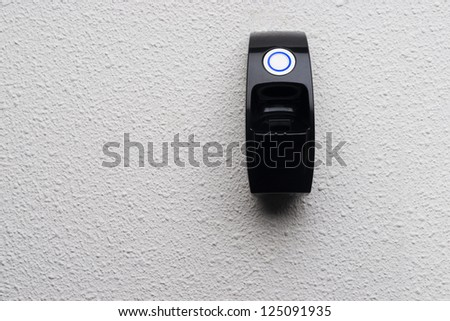 Biometric scan of a finger to get access to a room - stock photo