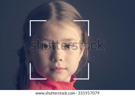 Biometric verification - small girl face recognition