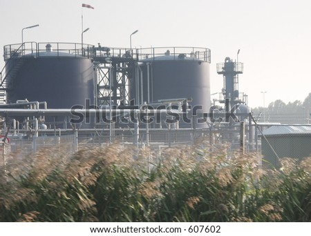 Biorefinery details - stock photo