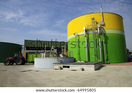 BioRenewable Energy: gas energetic valorization - stock photo