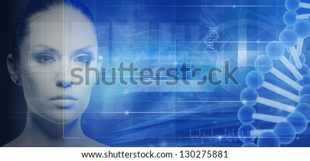 Biotechnology and genetic engineering abstract backgrounds for your design - stock photo