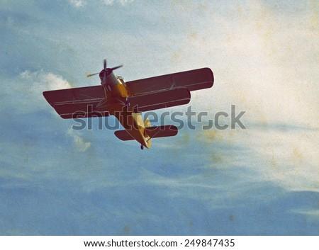 Biplane - stock photo