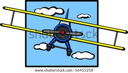 biplane aircraft - stock photo