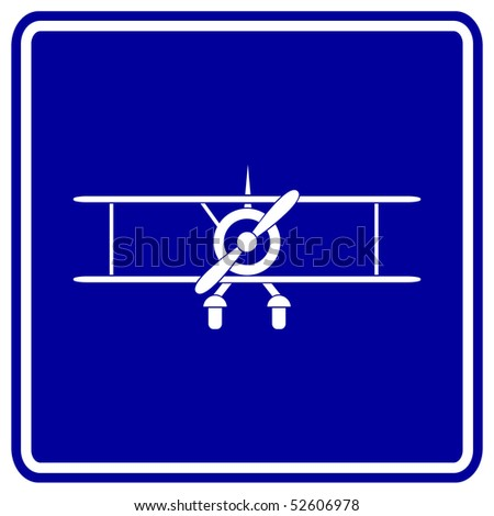 biplane sign - stock photo