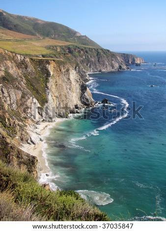 Bir Sur coastline in California - stock photo