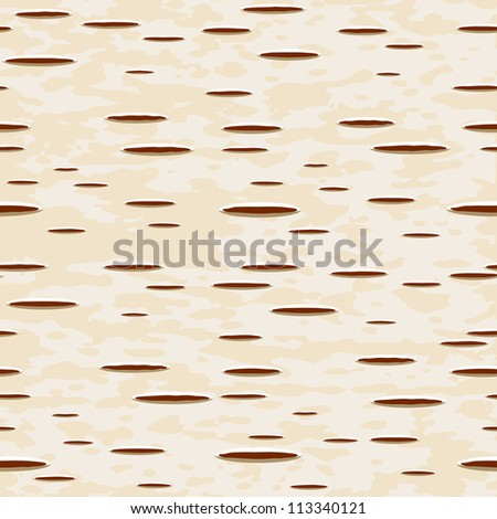 birch bark seamless pattern - raster version - stock photo