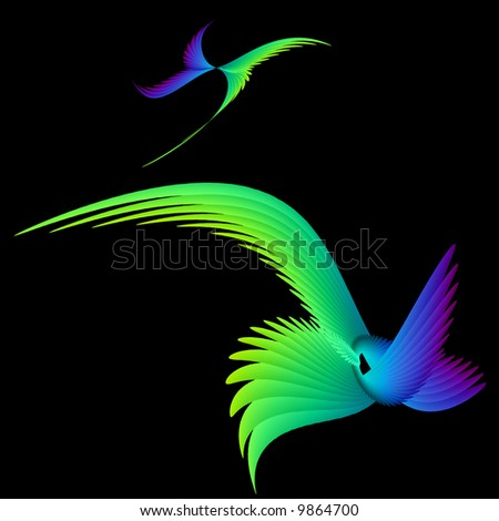 Bird & Butterfly - stock photo