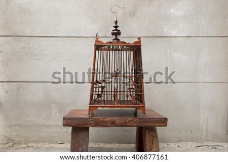bird cage - stock photo