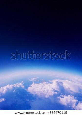 Bird Eye View of The Earth - stock photo