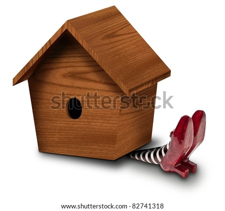 Bird House landing on the Wicket Witch - stock photo