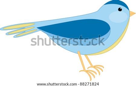 Bird illustration, isolated - stock photo