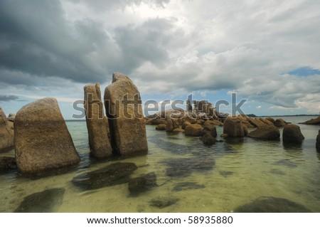 bird island belitung indonesia - stock photo