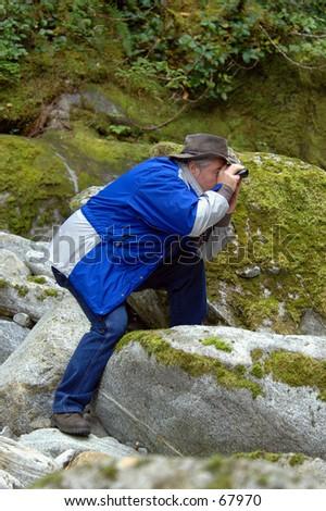 Bird Man - stock photo
