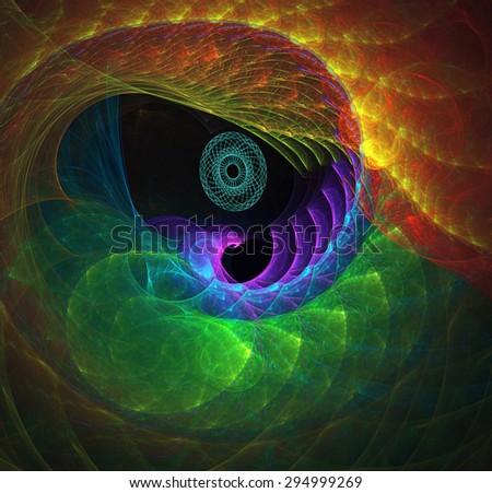 Bird's Eye abstract illustration - stock photo