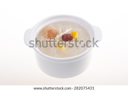 Bird's nest. Boiled bird's nest. Chinese food style