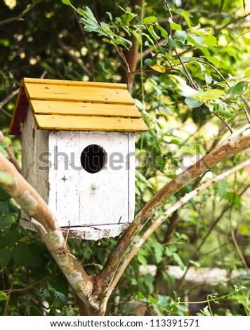 Birdhouse at park - stock photo