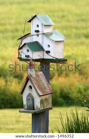Birdhouses - stock photo