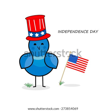 Birdie - Independence Day - stock photo