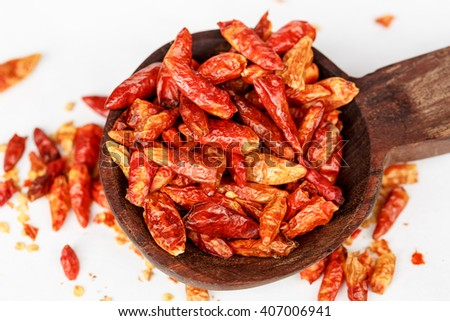 Birds Eye dried Chilli - stock photo