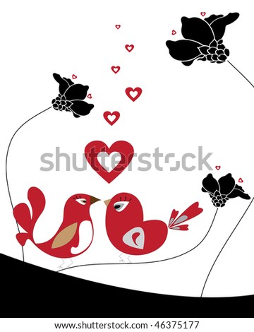 birds love - stock photo