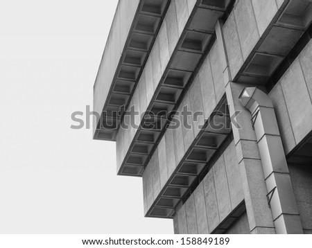 Birmingham Central Library, iconic brutalist concrete building, UK - stock photo