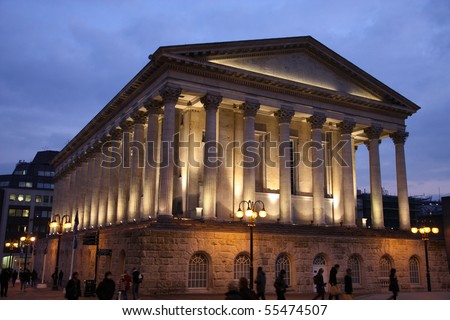 Birmingham City Hall in the evening. West Midlands, England. - stock photo