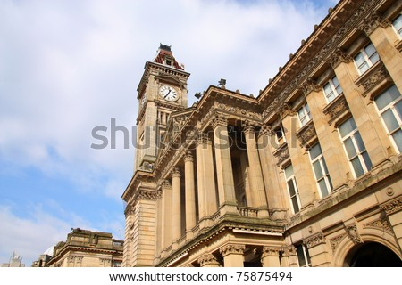 Birmingham Museum & Art Gallery with famous Big Brum clock tower. West Midlands, England. - stock photo