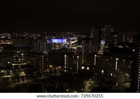 Birmingham Skyline from the old uni towers