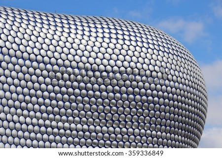 BIRMINGHAM, UK - APRIL 19, 2013: Selfridges department store in Birmingham. The modern building is part of Bullring Shopping Centre and was completed in 2003. - stock photo