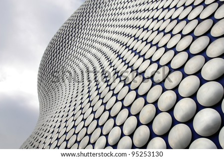 BIRMINGHAM, UK - MARCH 10: Bullring building on March 10, 2010 in Birmingham, UK. The building was opened in 2003 and is among most recognized contemporary buildings in the UK. - stock photo