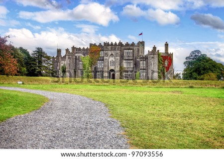 Birr Castle  in the town of Birr in County Offaly - Ireland. - stock photo