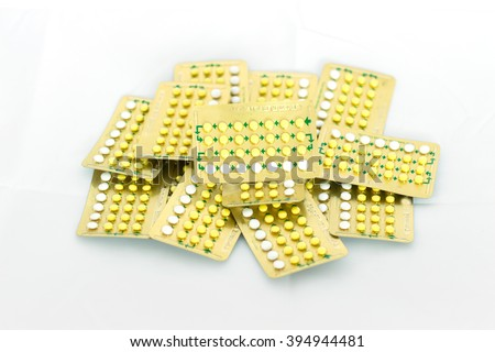 birth-control pill  - stock photo
