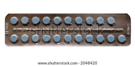 Birth Control Pills - stock photo