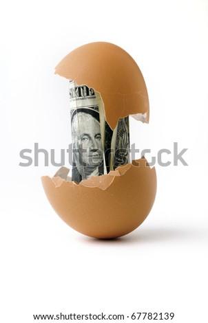 Birth of the dollar - stock photo