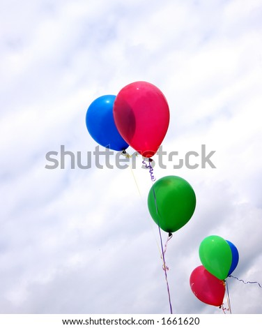 Birthday balloons - stock photo