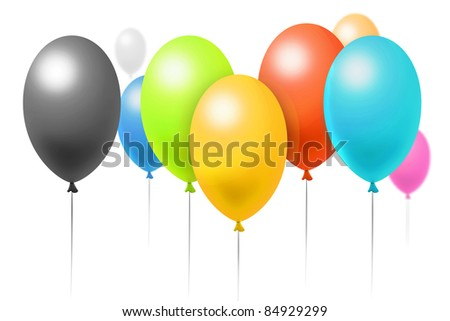 Birthday balloons illustration