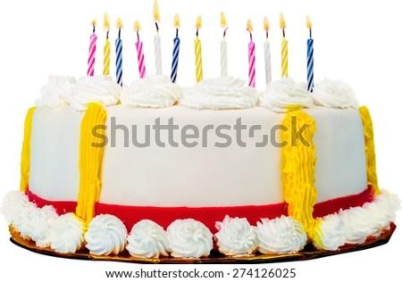 Birthday, Birthday Cake, Cake. - stock photo