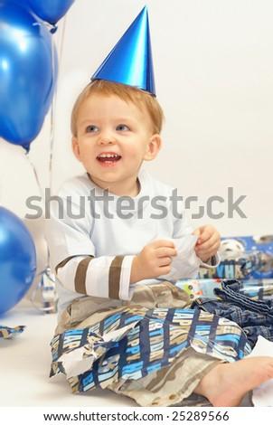 birthday boy - stock photo